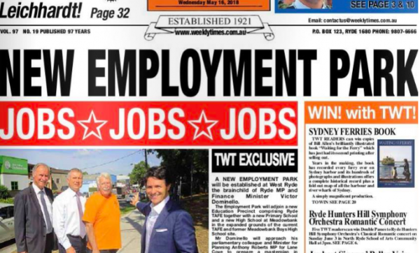 New Employment Precinct For West Ryde